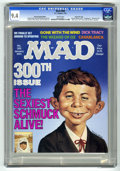 """Magazines:Mad, Mad #300 Hussein Asylum Edition - Gaines File Copy (EC, 1991) CGC NM 9.4 White pages. """"Casablanca,"""" """"Wizard of Oz,"""" """"Dick Tr..."""