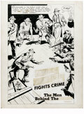 "Original Comic Art:Complete Story, Al Avison - Green Hornet Comics #18, Complete 9-page Story ""The MenBehind the Mask"" Original Art (Harvey, 1944). Every man ... (Total:9 Items)"