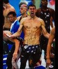 Miscellaneous Collectibles:General, Michael Phelps Signed Oversized Photograph....