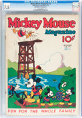 Platinum Age (1897-1937):Miscellaneous, Mickey Mouse Magazine #12 (K. K. Publications/ Western PublishingCo., 1936) CGC VF- 7.5 Off-white to white pages....