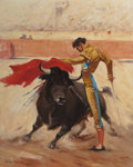 Texas:Early Texas Art - Regionalists, PORFIRIO SALINAS (American, 1910-1973). Matador, 1955. Oilon canvas. 20 x 16 inches (50.8 x 40.6 cm). Signed and dated ...