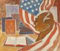 Texas:Early Texas Art - Modernists, SAMUEL P. ZIEGLER (American, 1882-1967). American History Books, Bust and Flag, 1944. Oil on canvas. 20 x 24 inches (50....