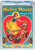 Golden Age (1938-1955):Cartoon Character, Mickey Mouse Magazine V3#5 (K. K. Publications/ Western PublishingCo., 1938) CGC VF- 7.5 Off-white pages....