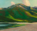 Paintings, OLIN TRAVIS (American, 1888-1975). Tranquil Evening, Colorado. Oil on masonite. 20 x 24 inches (50.8 x 61.0 cm). Signed ...