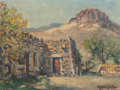Texas:Early Texas Art - Regionalists, ROLLA SIMS TAYLOR (American, 1872-1970). Big Bend NationalPark. Oil on canvasboard. 9 x 12 inches (22.9 x 30.5 cm).Sig...