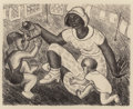 Texas:Early Texas Art - Drawings & Prints, KATHLEEN BLACKSHEAR (American, 1897-1988). Untitled (Mother andChildren). Lithograph. 10-5/8 x 13 inches (27.0 x 33.0 c...
