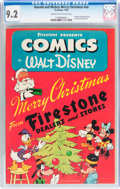 Golden Age (1938-1955):Cartoon Character, Donald and Mickey Merry Christmas 1943 (K. K. Publications, Inc., 1943) CGC NM- 9.2 Cream to off-white pages....