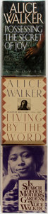 Books:Social Sciences, Alice Walker. Living by the Word, In Search of Our Mothers'Gardens [and:] Possessing the Secret of Joy. New...(Total: 3 Items)