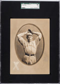 Baseball Cards:Singles (Pre-1930), 1911 T4 Obak Cabinet Frank Miller SGC 60 EX 5 - The 2nd Finest T4on Record! ...