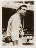 Baseball Collectibles:Photos, 1914 Tris Speaker Original News Photograph Used for 1914-15 CrackerJack Cards, PSA/DNA Type 1....
