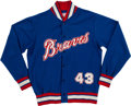 Baseball Collectibles:Uniforms, 1975-78 Cito Gaston Atlanta Braves Game Worn Jacket. ...