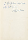 Basketball Collectibles:Publications, 1949 The Negro In Sports Edwin Bancroft Henderson Signed Book - Rare Hall of Fame Basketball Signature. ...