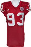 Football Collectibles:Uniforms, 2009 Ndamakong Suh Game Worn, Signed Nebraska Cornhuskers Jersey and Pants - Worn in MVP Big 12 Championship Performance....