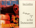 """Books:Mystery & Detective Fiction, Sue Grafton. SIGNED. """"I"""" is for Innocent. New York: HenryHolt, [1992]. First edition. Signed by the author. Pub..."""