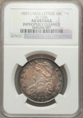 Bust Half Dollars, 1829 50C Large Letters -- Improperly Cleaned -- NGC Details. AU.O-110a. NGC Census: (73/786). PCGS Population (154/747). ...