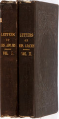Books:Biography & Memoir, [Abigail Adams]. Letters of Mrs. Adams, the Wife of JohnAdams. Boston: Little and Brown, 1841. Third edition. Compl...(Total: 2 Items)