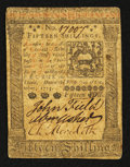 Colonial Notes:Pennsylvania, Pennsylvania October 1, 1773 15s Very Fine+.. ...