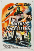 """Movie Posters:Science Fiction, Satan's Satellites (Republic, 1958). One Sheet (27"""" X 41"""") FlatFolded. Science Fiction.. ..."""