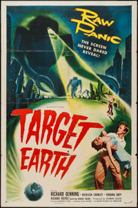 "Target Earth (Allied Artists, 1954). One Sheet (27"" X 41""). Science Fiction"