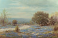 Paintings, WILLIAM ROBERT THRASHER (American, 1908-1997). Winding Country Road with Bluebonnets. Oil on canvas. 24 x 36 inches (61....