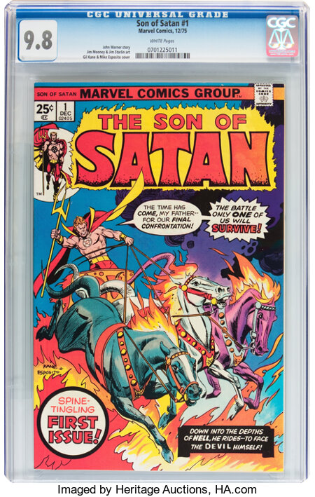 Son of Satan #1 (Marvel, 1975) CGC NM/MT 9.8 White pages....