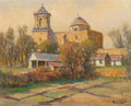 Texas:Early Texas Art - Regionalists, ROLLA SIMS TAYLOR (American, 1872-1970). San Jose Mission.Oil on canvasboard. 16 x 20 inches (40.6 x 50.8 cm). Signed l...