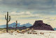 "GERALD WILLIAMSON ""JERRY"" BYWATERS (American, 1906-1989) Western Arizona, circa 1961 Watercolor on paper 9-1/4..."