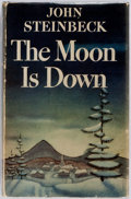 Books:Literature 1900-up, John Steinbeck. The Moon is Down. New York: Viking Press, 1942. First edition, first state, with extra period on pag...