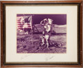 Explorers:Space Exploration, Apollo 17 Large Color Photo Signed on the Mat by Gene Cernan andRon Evans, in Framed Display. ...