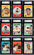 Baseball Cards:Sets, 1959 Topps Baseball Mid to High Grade Collection (137 Different)With Many Stars & HoFers. ...