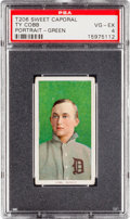 Baseball Cards:Singles (Pre-1930), 1909-11 T206 Sweet Caporal Ty Cobb, Green Portrait PSA VG-EX 4....