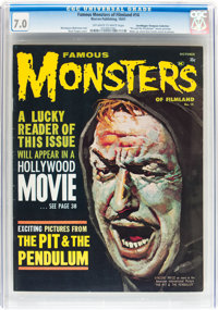 Famous Monsters of Filmland #14 Don/Maggie Thompson Collection pedigree (Warren, 1961) CGC FN/VF 7.0 Off-white to white...