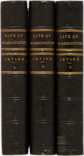 Books:Biography & Memoir, Washington Irving. The Life of Washington. Chicago: Belford, Clarke, [1855]. Complete in three octavo volumes. Later... (Total: 3 Items)