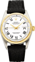 Timepieces:Wristwatch, Rolex Ref. 1600 Gent's Two Tone Oyster Perpetual Datejust, circa 1978. ...