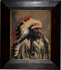 American Indian Art:Photographs, HERMAN HEYN. Little Wound, Chief Ogallala Sioux. c. 1899...