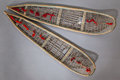American Indian Art:Wood Sculpture, A PAIR OF CREE MODEL SNOW SHOES...