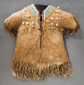 American Indian Art:Beadwork and Quillwork, A GREAT LAKES CHILD'S BEADED HIDE DRESS/SHIRT. c. 1910...