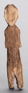 American Indian Art:Wood Sculpture, AN ESKIMO CARVED WOOD DOLL...
