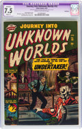 Golden Age (1938-1955):Horror, Journey Into Unknown Worlds #10 Bethlehem pedigree (Atlas, 1952)CGC Apparent VF- 7.5 Slight (P) Cream to off-white pages....