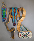 American Indian Art:Beadwork and Quillwork, THREE SIOUX CHILD'S BEADED HIDE ITEMS... (Total: 3 )