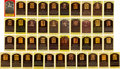 Autographs:Post Cards, 1960's-80's Signed Gold Hall of Fame Plaques Lot of 41....