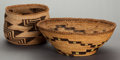 American Indian Art:Baskets, TWO KLAMATH TWINED BOWLS. c. 1900... (Total: 2 Items)