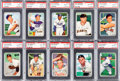 Baseball Cards:Lots, 1952 Bowman Baseball PSA MINT 9 and NM-MT 8 Graded Collection (50)....
