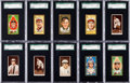 Baseball Cards:Lots, 1911 T205 Gold Border and 1912 T207 Brown Border BaseballCollection (73). ...