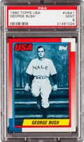 Baseball Cards:Singles (1970-Now), 1990 Topps USA George Bush #USA1 PSA Mint 9 - Pop One of One! TheFinest Example on Record. ...