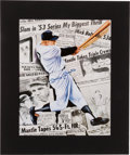 Autographs:Others, 1990's Mickey Mantle Signed Lithograph....