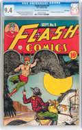 Golden Age (1938-1955):Superhero, Flash Comics #9 Billy Wright pedigree (DC, 1940) CGC NM 9.4 Off-white to white pages....
