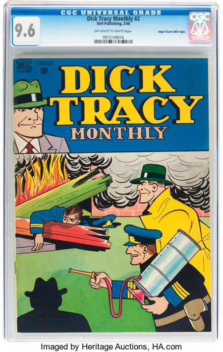 Dick Tracy Monthly #2 Mile High pedigree (Dell, 1948) CGC NM+ 9.6 Off-white to white pages....