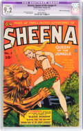 Golden Age (1938-1955):Adventure, Sheena, Queen of the Jungle #1 Mile High pedigree (Fiction House, 1942) CGC Apparent NM- 9.2 Slight (P) White pages....