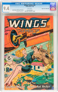 Golden Age (1938-1955):Adventure, Wings Comics #92 Mile High pedigree (Fiction House, 1948) CGC NM 9.4 White pages....